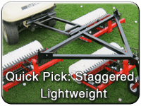 lightweight, staggered commercial golf ball picker