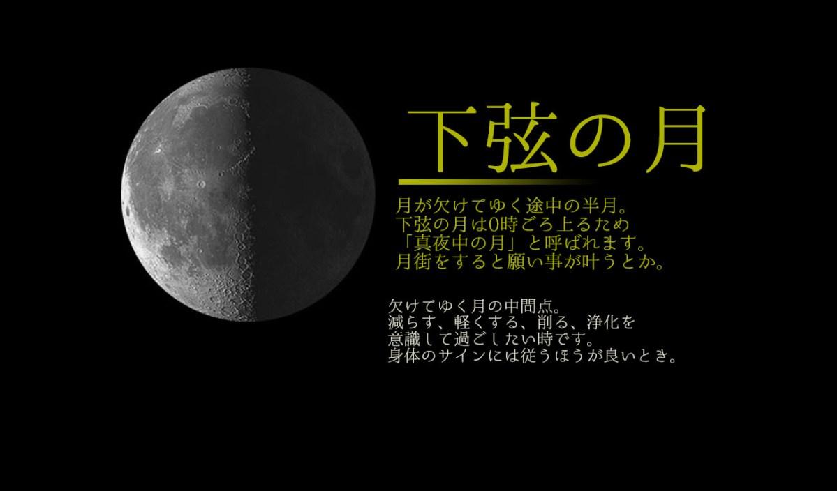 2018/5/8*水瓶座の月/下弦の月