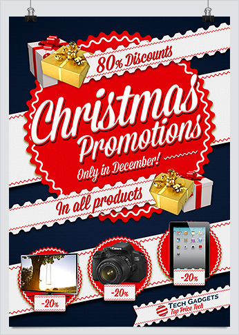 best christmas promotion flyers