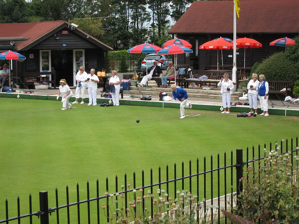Lawn bowling -- how British!