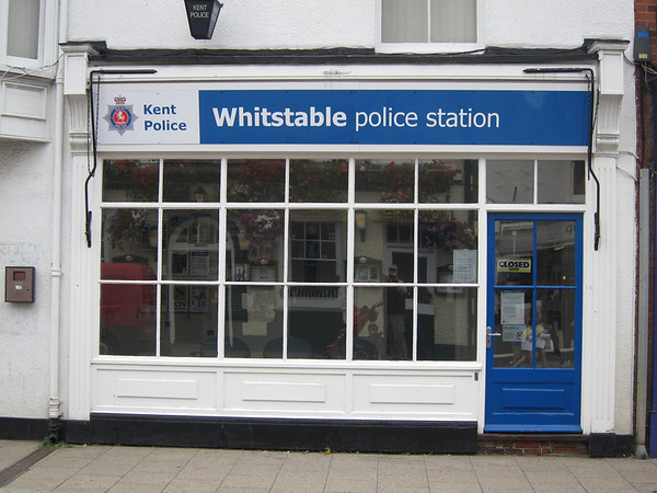Police station -- note that it's closed on a Wednesday afternoon