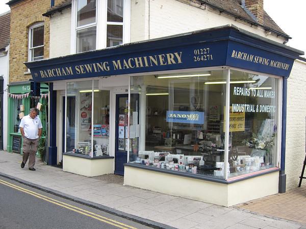 Even a sewing machine shop