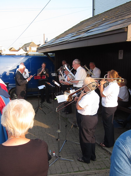 Brass band plays final hymn