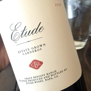 "Etude's ""GBR"" red blend, the standout at the Etude tasting. #spoiled"