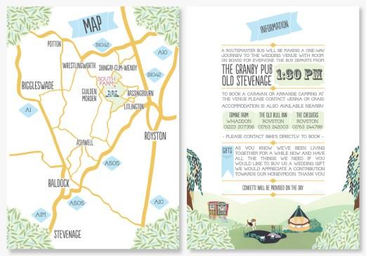 music festival inspired custom wedding map