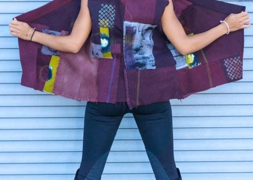 EF Vest Plum Mix Wools