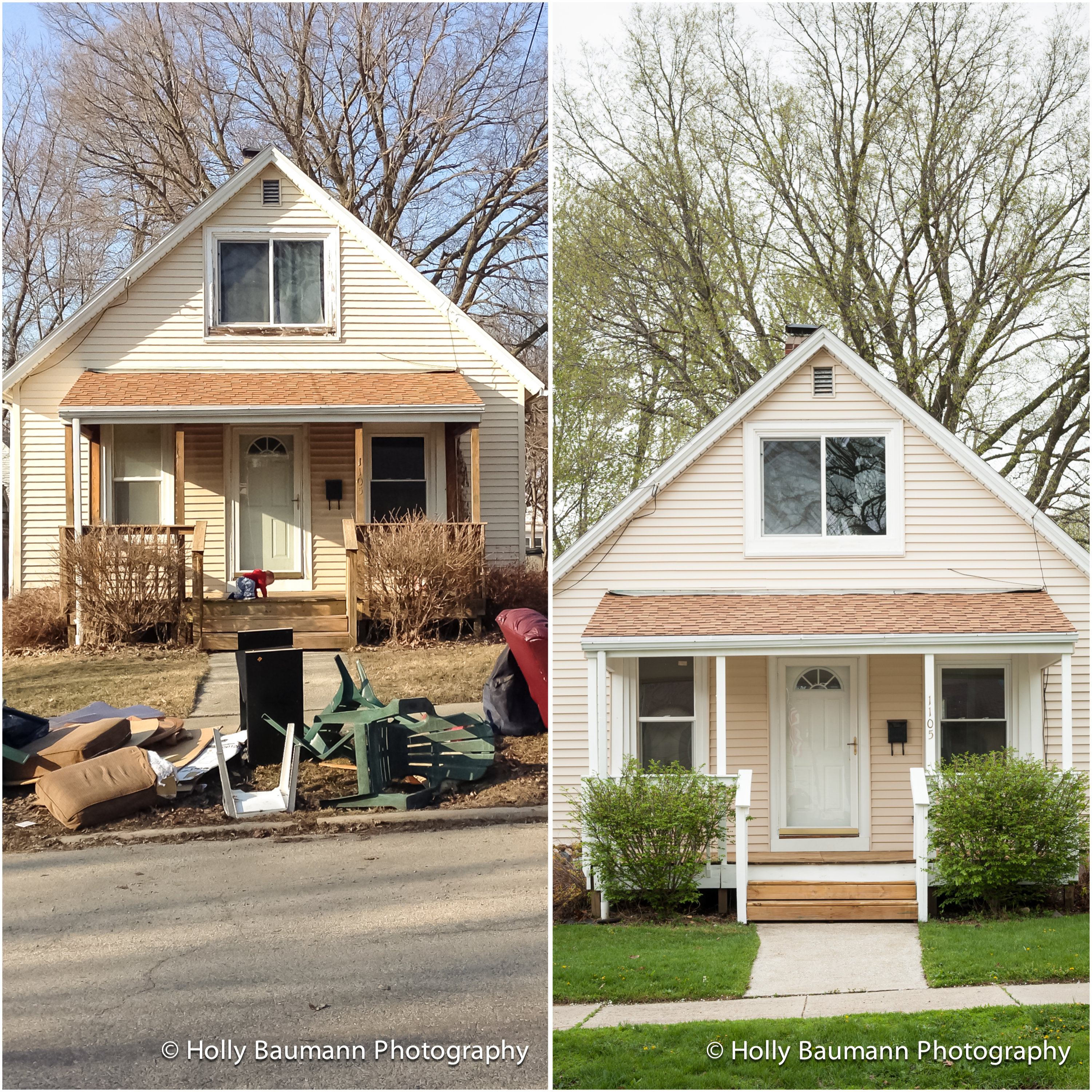 Bungalow Remodel – Before And After Bloomington IL Architectural