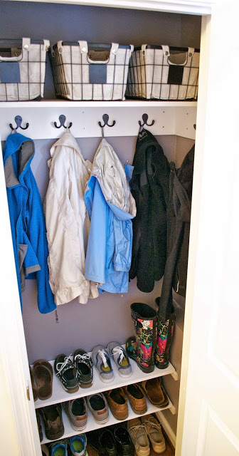 DIY Entryway Coat Closet Makeover