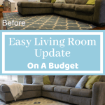 Easy Living Room Update On a Budget