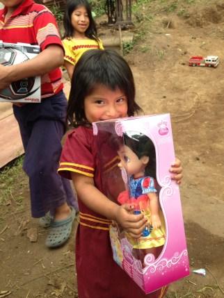 Little LuLu loves her new doll,