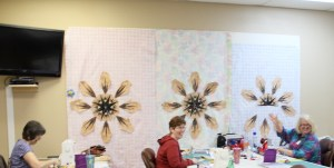 Kay, Liz and Nancy all chose the kit - however as class progressed they each made small changes that will give there quilts a little personal touch