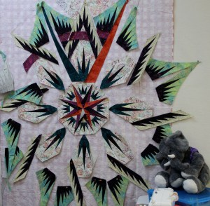 Barb's fabrics were picked out by friends - her quilt is going to be awesome!