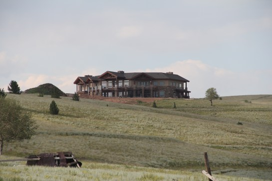 And then there is the new construction - up on the highest hill - if you got it - flaunt it!  This was a beautiful structure!