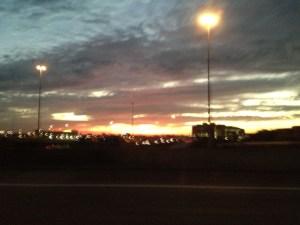 Sunrise over Houston
