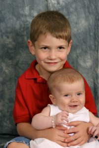 A couple more of Bill's beautiful grandchildren.  When they were little!