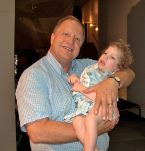 Uncle John meets Jenni's first grandchild!