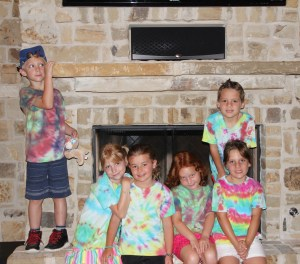 Our happy tie-dyed campers!
