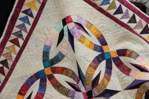 A close-up of some of Valerie's Quilting