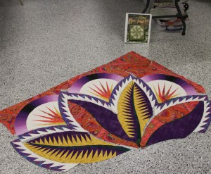 Got to lay out a few more pieces while I was with the Golden Needles Quilt Guild