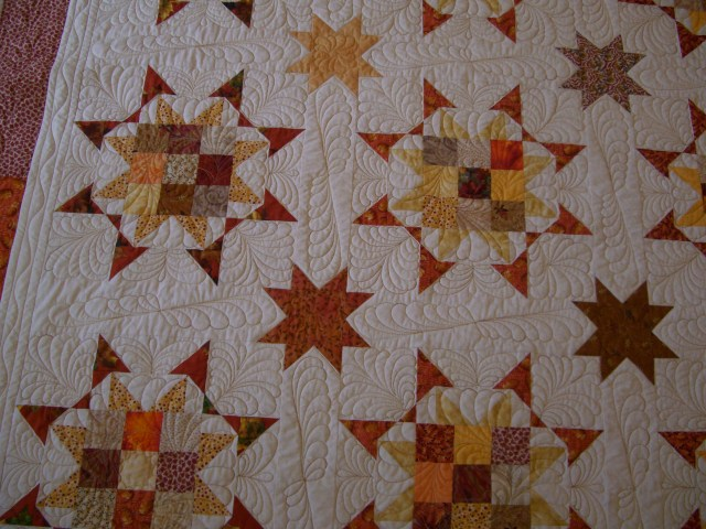 Kaye's quilt - love the fall colors