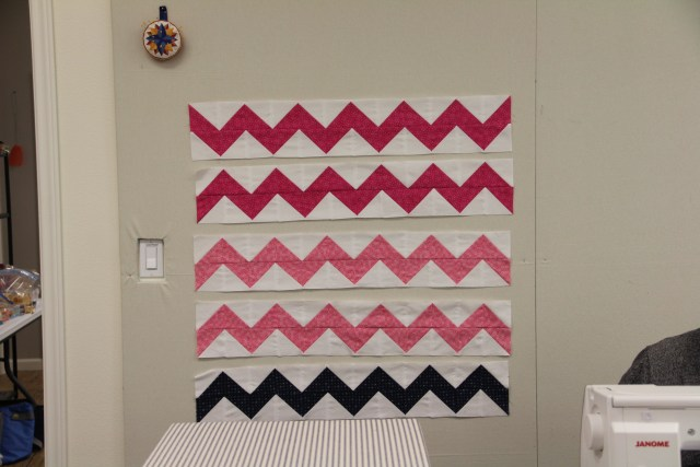 These chevrons made the cutest quilt!