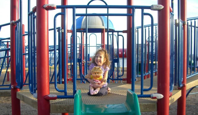 The playground at the park - we spent a lot of time there