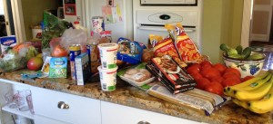 A little bit of sustenance for our campers - notice no red licorice or smores ingredients - I had to make another trip to the store!