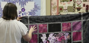 Kim suggests imitating the white flowers in these squares.