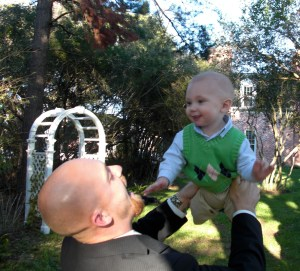 Daddy and Mr. B at Aunt Jess' wedding