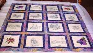 An overall of the quilt