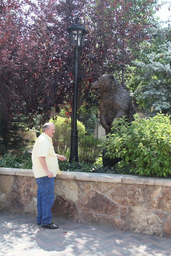 Hubby liked the bear sculpture