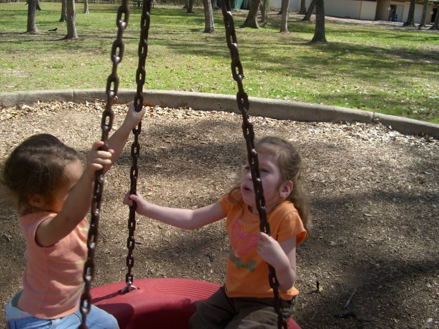 We went to the park with Dahlia and you liked this swing too!