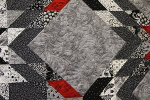 Quilting in center setting squares