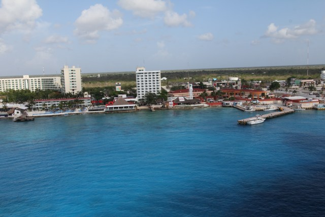 Our first port was Cozumel, I had been here a very long time ago, probably over 30 years ago.  The island has really grown up.  It has a community college, a Sam's store and lots of restaurants and shopping.