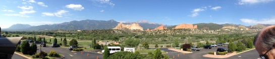 An iphone panarama of Garden of the Gods