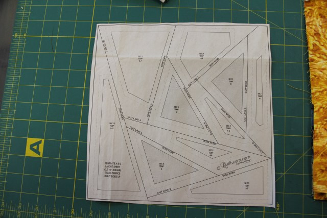"This is the ""Template Layout Sheet""  It is used to cut your fabrics the proper shape and size for paper-piecing!"