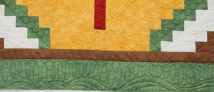 close up of the outer border