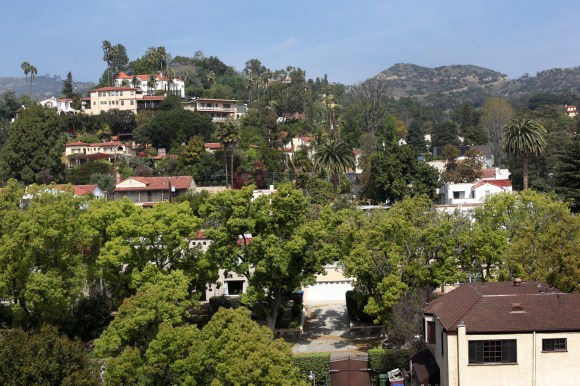 The view from a high-rise in Los Feliz.