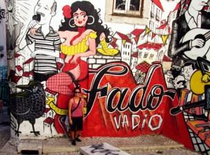 Fado Vadio graffiti mural