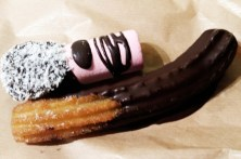 marshmallow and oddly shapped churro