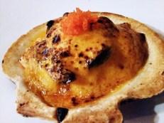KAMIKAZE baked scallops, crab, shiitake mushroom, and squid with spicy mayo $9