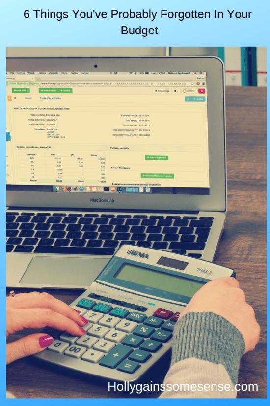 laptop preparing budget items