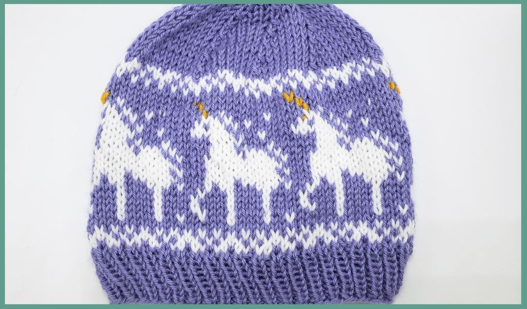 Unicorn Hat Knitting Pattern   Holly G Hats