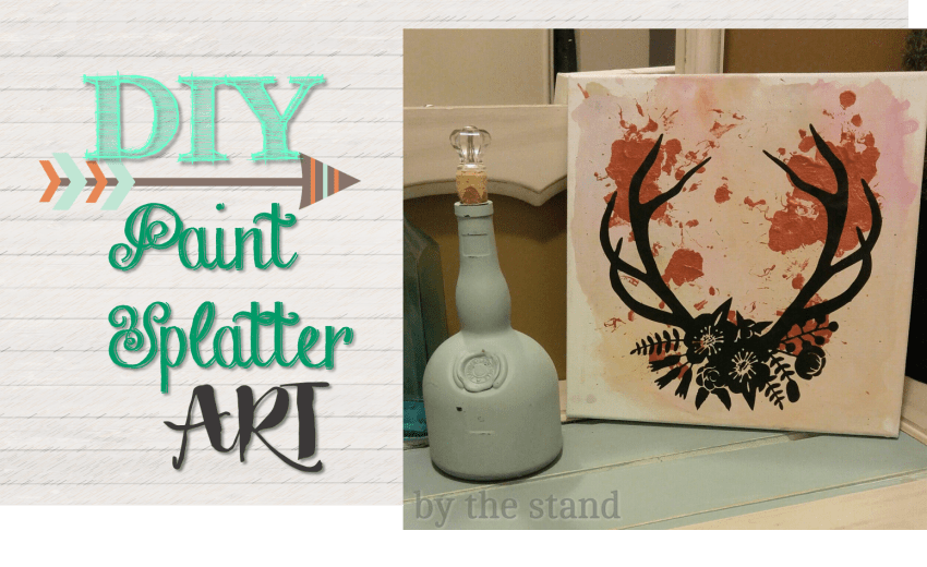 DIY Paint Splatter Art