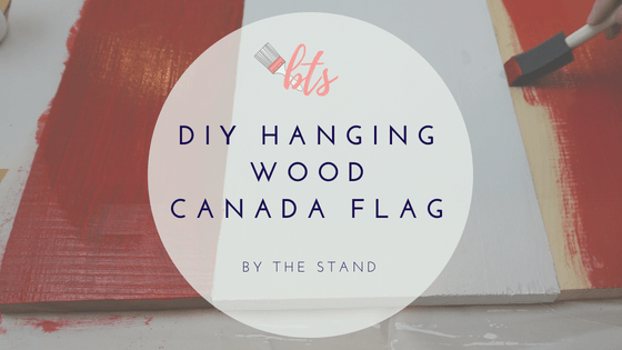 DIY Hanging Wood Canada Flag