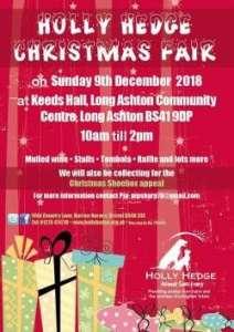 Holly Hedge Christmas Fair 2018 @ Long Ashton Community Centre | Long Ashton | England | United Kingdom