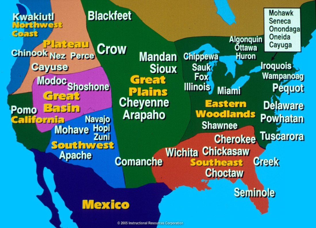 Mr Crouch Native American Map