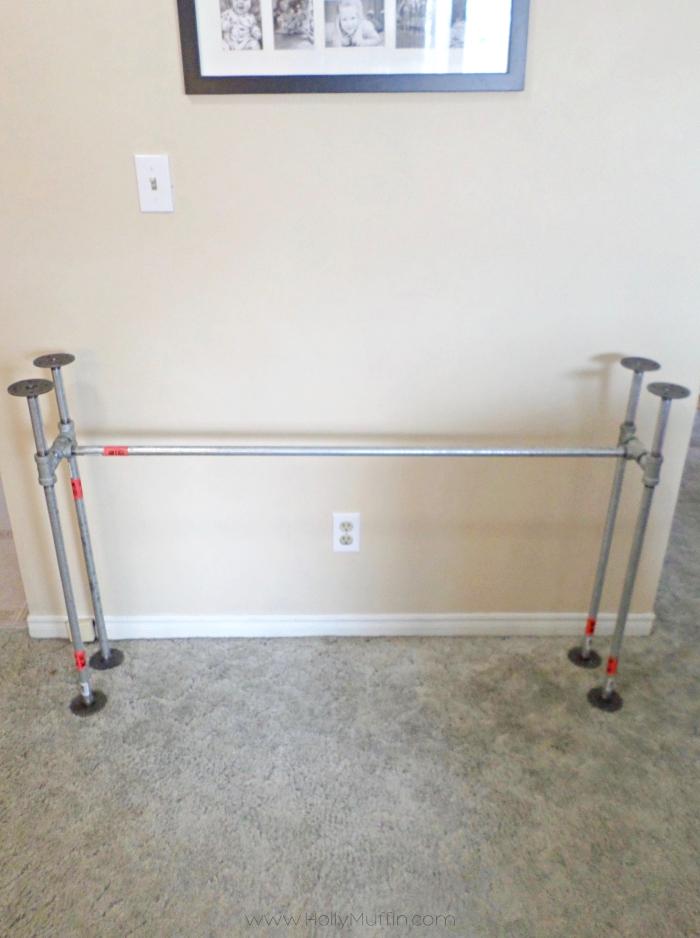Galvanized pipe frame