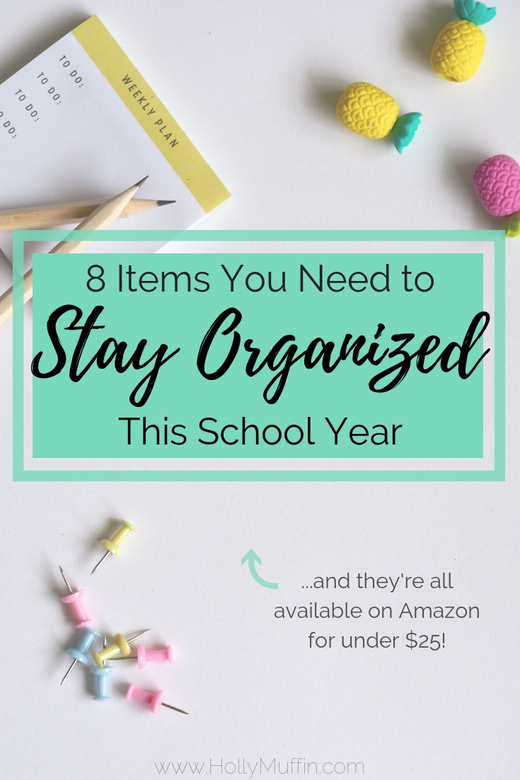 8 items you need to stay organized this school year! All of these are under $25 on amazon!