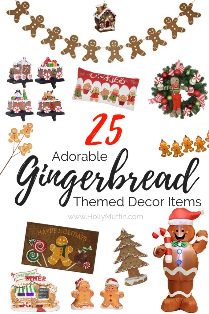 25 Adorable Gingerbread Themed Decor Items